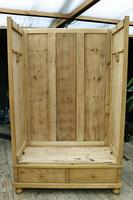 Quality! Large Old Pine Double 'Knock Down' Wardrobe - We Deliver! (14 of 17)
