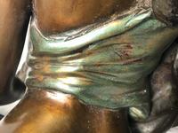 Art Deco Original Cold Painted Bronze Erotic Nude Lady Sculpture (25 of 31)