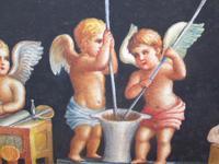 Watercolour Mischievous Putti Listed Artist E P Fenderico (12 of 14)