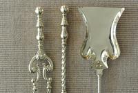 Quality Victorian Brass Fire Irons Companion Set Tongs Poker Shovel c.1895 (2 of 9)
