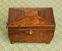 Antique Rosewood Tea Caddy (7 of 15)