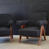 Upholstered Chandigarh Easy Armchair & Sofa by Pierre Jeanneret (7 of 8)