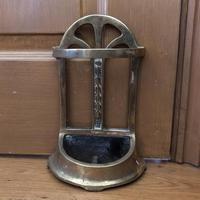 Brass Door Porter - Door Stop - In Shape of a Stick Stand (3 of 8)
