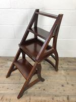 Mahogany Metamorphic Library Chair Steps (8 of 10)