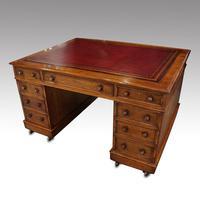 Victorian Oak Partners Desk (2 of 12)
