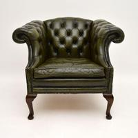 Antique Georgian Style Leather Armchair (2 of 10)