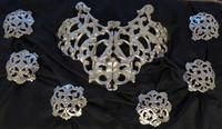 Boxed 1903 Hallmarked Solid Silver Nurses Belt Buckle and Button Set by S Jacobs (8 of 14)