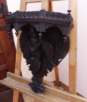 Burmese Carved Wall Bracket Hardwood 1860 (free Shipping to Mainland England) (10 of 12)