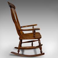Antique Farmhouse Rocking Chair, English, Elm, Beech, Seat, Victorian c.1900 (3 of 12)
