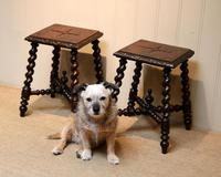 Pair Of Carved Oak Tables (2 of 9)