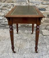 Antique Victorian Walnut Writing Table Desk (16 of 17)
