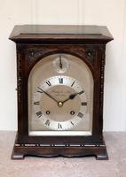 Oak Bracket Clock Supplied By Harrods (11 of 11)