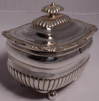 Fine George III Large Silver Tea Caddy by London Silversmiths J. W. Story & W. Elliott, 1811 (3 of 9)