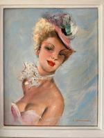 Jules Gustave Lempereur - Pair of Parisian Ladies - Oils on Canvas (5 of 5)