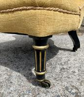 Small Antique Victorian Upholstered Salon Chair (5 of 17)