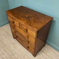 Victorian Country House Figured Mahogany Antique Chest of Drawers (5 of 6)