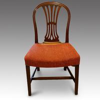 Set of 8 Edwardian mahogany Hepplewhite dining chairs (3 of 12)