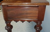 Victorian Gothic Mahogany Hall Console Table (11 of 12)