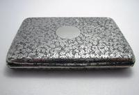 Quality Victorian 1894 Solid Sterling Silver & Leather Aide Memoire Card Note Stamp Case Purse Wallet. English Hallmarked (9 of 12)