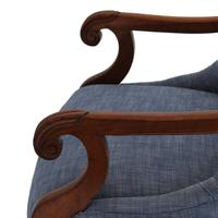 19th Century Buttoned Show Wood Chair (5 of 8)