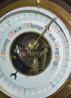Edwardian Aneroid Barometer, Visible Mechanism Rope Twist (4 of 4)