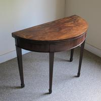 Mahogany Demi-Lune Card Table (2 of 5)