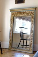 French Carved & Painted Pier Mirror