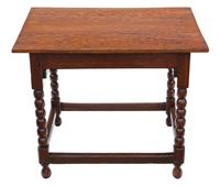 Georgian and Later Oak Writing Side Occasional Table with Drawer c.1800 (7 of 9)