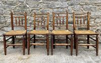 Set of 4 Antique Elm Country Chairs (6 of 13)