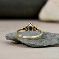 The Vintage Sapphire & Diamond 9ct Gold Ring (4 of 5)