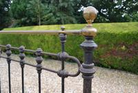 Original Victorian Brass and Iron King Size 5ft Bedstead. Bed Fully Restored in Your Choice of Colour (3 of 15)