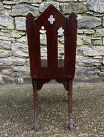 Antique Gothic Oak Hall Chair (6 of 13)
