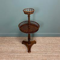 Victorian Rosewood Circular Antique Occasional Table (2 of 7)