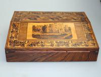 A Superior Tunbridge Ware Fitted Lap Desk Hever Castle C. 19thc (3 of 14)