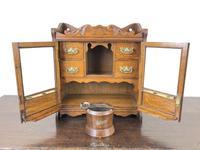 Antique Edwardian Oak Smoker's Cabinet (M-1571) (11 of 12)