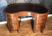 Edwardian Inlaid Mahogany Kidney Shaped Desk (5 of 21)