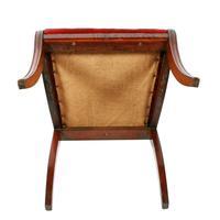 Georgian Mahogany Sabre Leg Chair (8 of 8)