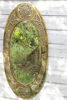 Arts & Crafts Movement Scottish / Glasgow School Large Oval Wall Mirror c.1900 (18 of 28)