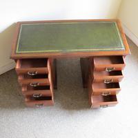 Walnut Kneehole Writing Desk - Edwardian c.1910 (6 of 8)