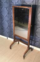 Regency Mahogany Framed Cheval Mirror (2 of 11)