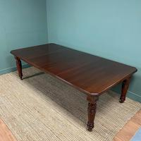Large Victorian Walnut Antique Extending Dining Table (6 of 7)