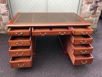 Antique Mahogany Pedestal Writing Desk (9 of 11)