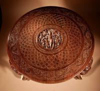 Anglo Indian Fine Carved Hardwood Round Side Elephant Table. 19th Century (6 of 12)