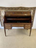 Stunning French Empire Cylinder Desk with Marble Top (2 of 11)