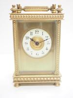 Antique French 8-day Carriage Clock Unusual Masked Dial Case with Enamel Dial (10 of 10)