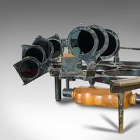 Antique Maritime Sextant, Brass, Admiralty, Naval, Instrument, Victorian c.1900 (4 of 12)