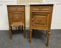 Pair of French Marble Top Bedside Cupboards (3 of 13)