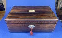 William IV Pewter Inlaid Rosewood Box (5 of 18)