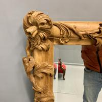 Large Carved Wood Overmantle Mirror (9 of 9)