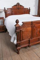 Beautiful Carved Walnut European King Size Bed (7 of 13)